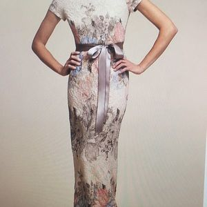 Long lace dress from Anthropologie